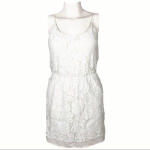 Charles Henry | S | White Lace Blouson Dress